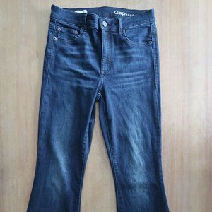 GAP 1969 SKINNY FLARE OUT JEAN HIGH RISE SIZE 27